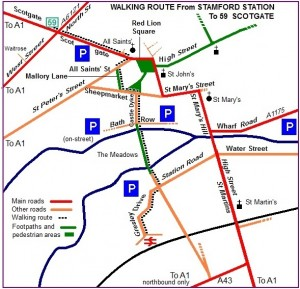 Route map foot only